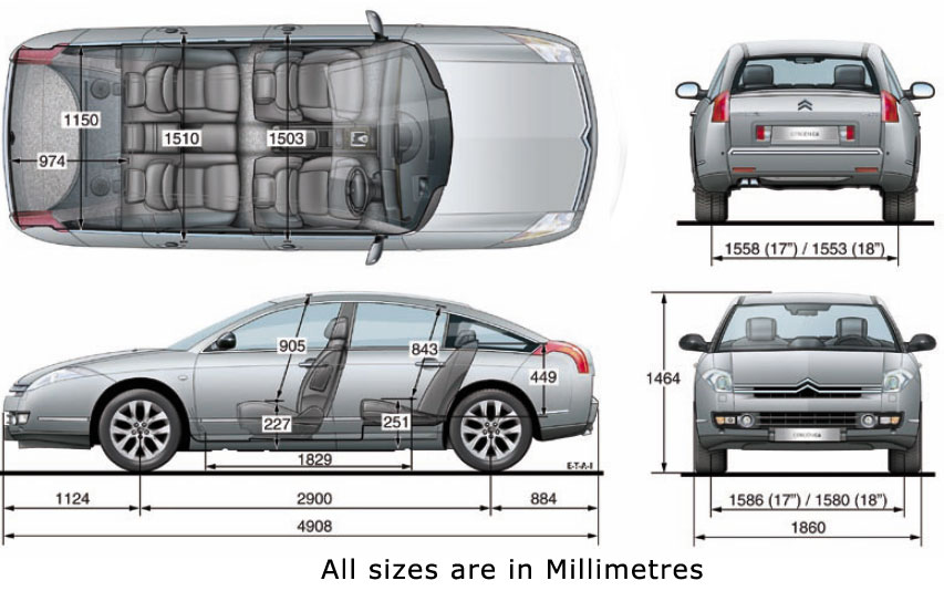 goseekit search image car dimensions in feet