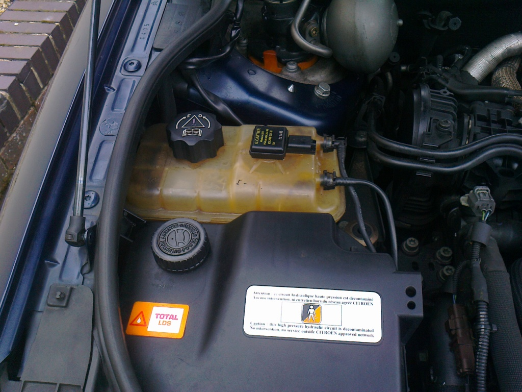 and here's where I'm losing coolant from: